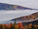 Fog Over Appalachian Mountains in Autumn Photographic Print by Adam Jones