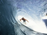 Surfing in the Tube Photographic Print by Sean Davey