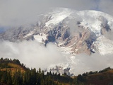 Mount Rainier in the Clouds Photographic Print by Craig Tuttle