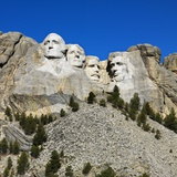 Monumento Nacional del Monte Rushmore Lmina fotogrfica por Ron Chapple