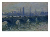 Waterloo Bridge (1902) Giclee Print by Claude Monet