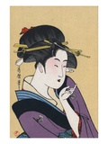 Japanese Matchbox Label with a Beckoning Woman Giclee Print