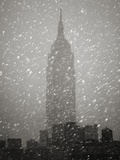 Snowfall in New York City Photographic Print by Christopher C Collins