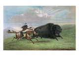 Print after Buffalo Hunt Giclée-Druck von George Catlin