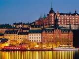 Buildings in Stockholm Photographic Print by Bruno Ehrs