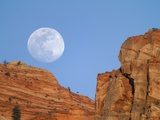 Moonrise at Zion National Park Photographic Print by Scott Smith