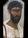 Fayum Portrait of a Bearded Man Fotografie-Druck von S. Vannini