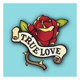 True Love Rose Tattoo Giclee Print