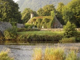 Vine-Covered Stone Cottage Near River Conwy Photographic Print by Richard Klune