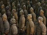 Terracotta Warrior Statues in Qin Shi Huangdi Tomb Photographic Print by Danny Lehman