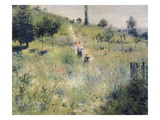 The Path Through the Long Grass Giclee Print by Piere-Auguste Renoir