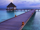 Pier at Island Hideaway at Dhonakulhi in Haa Alifu Atoll Photographic Print by Frank Krahmer
