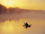 Fly-fishing in Lake Muskoka, Ontario Photographic Print by Henry Georgi