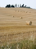 Bales of Hay on Tuscan Farm Photographic Print by Mark Bolton
