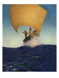 The History of Codadad and His Brothers Giclee Print by Maxfield Parrish