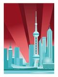Pudong Skyline Giclee Print