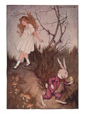 Illustration of Alice and the White Rabbit by Milo Winter