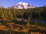 Fall Colors and Alpine Lake near Mount Rainier Photographic Print by Craig Tuttle