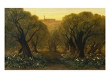 The Garden of Gethsemane Giclee Print by Edward Lear