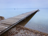 Wood Dock at Starnbergersee Photographic Print by Frank Krahmer