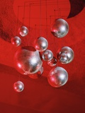 Mirror balls and red light Photographic Print by M. Neugebauer