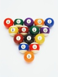 Pool balls in formation Photographic Print