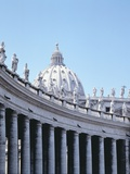Colonnade and Dome, Piazza San Pietro Photographic Print by G&#252;nter Rossenbach