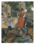 Cafe Concert at Les Ambassadeurs Giclee Print by Edgar Degas