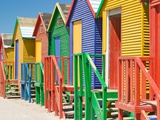 Colored Beach Huts Lmina fotogrfica por Joseph Sohm