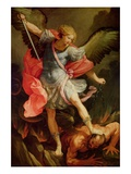 The Archangel Michael Defeating Satan Reproduction procédé giclée par Reni Guido