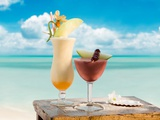 Pina colada and strawberry margarita Photographic Print