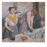 The Laundresses Giclee Print by Edgar Degas