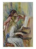 Two Girls at the Piano Giclee Print by Pierre-Auguste Renoir