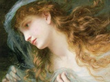 Head of a Nymph Photographic Print by Sophie Anderson