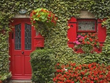 Ivy-Covered Cottage in Borris Photographic Print by Richard Cummins
