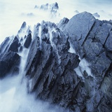 Rock Formation in Fog Photographic Print by Micha Pawlitzki