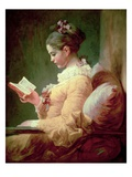 Young Girl Reading Giclee Print by Jean Honore Fragonard