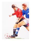 Soccer Giclee Print by Brian Harper