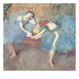 Two Dancers at Rest Giclee Print by Edgar Degas