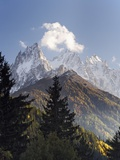 Clouds Hovering Above Mountains Photographic Print by Frank Lukasseck