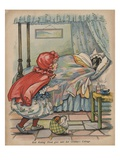 Red Riding Hood Goes Into Her Granny's Cottage Giclee Print