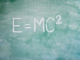 Mathematical Formula on Blackboard Photographic Print