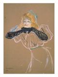 The Singer Yvette Guilbert Lámina giclée por Henri de Toulouse-Lautrec