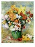Chrysanthèmes Reproduction procédé giclée par Pierre-Auguste Renoir