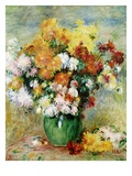 Bouquet of Chrysanthemums Giclee Print by Pierre-Auguste Renoir