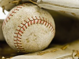 Baseball in Baseball Glove Photographic Print by Rob Chatterson