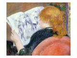 "Young Woman Reading the ""Illustre"" Giclee Print by Pierre-Auguste Renoir"