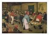 Peasant Wedding Reproduction proc&#233;d&#233; gicl&#233;e par Pieter Bruegel the Elder