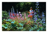 Garden Girl Giclee Print by Pat Fridell