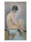 Model in Profile Giclee Print by Georges Seurat